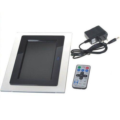 Porta Retrato Digital Tela LCD 7 c Ctrl Remoto preto