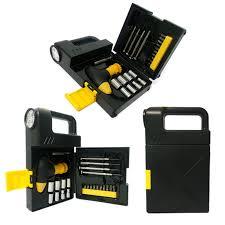 Kit ferramenta com 24 pecas e lanterna na caixa